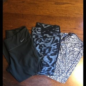 Lot of 3 Nike leggings